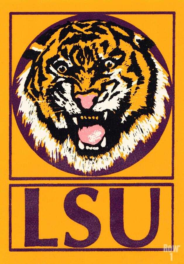 lsu tigers retro poster  Print