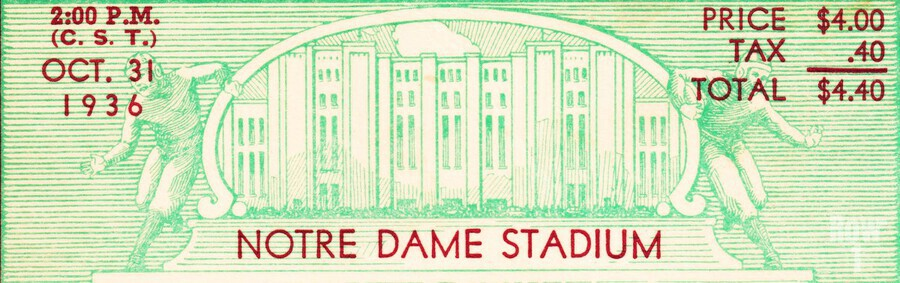 notre dame football fathers day gifts  Print