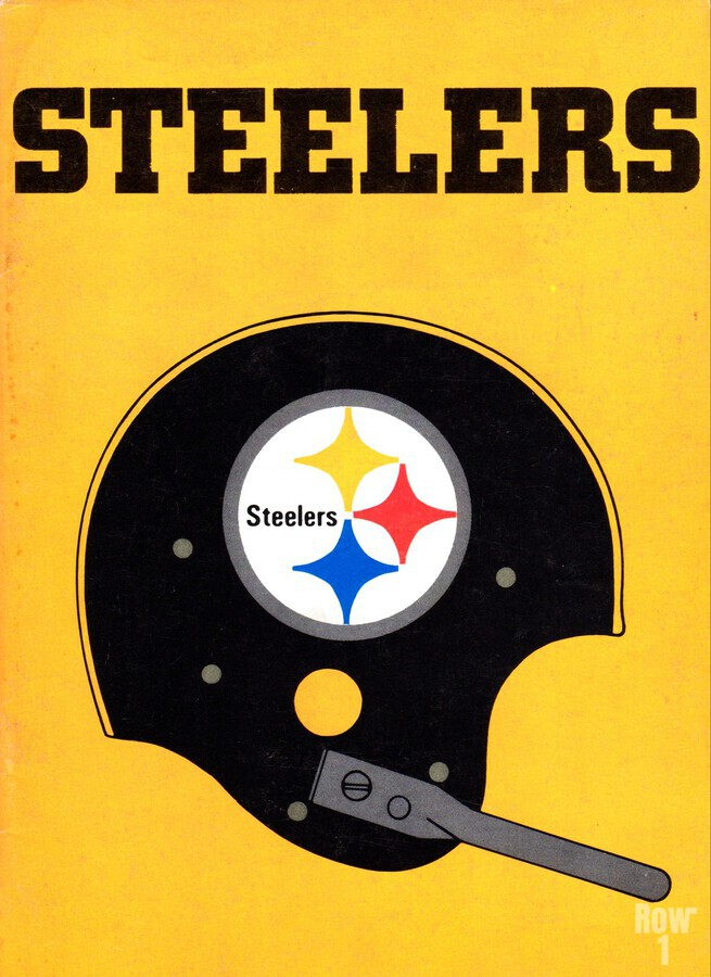 1968 Pittsburgh Steelers Helmet Poster  Print