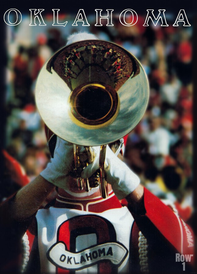 1983 pride of oklahoma retro college marching band poster  Print