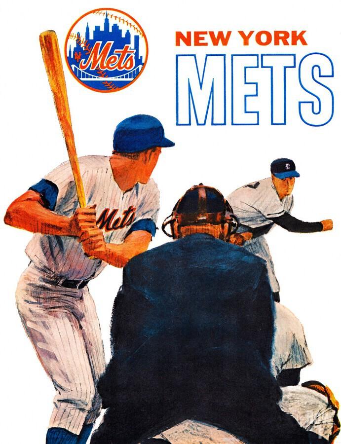 retro new york mets poster  Print