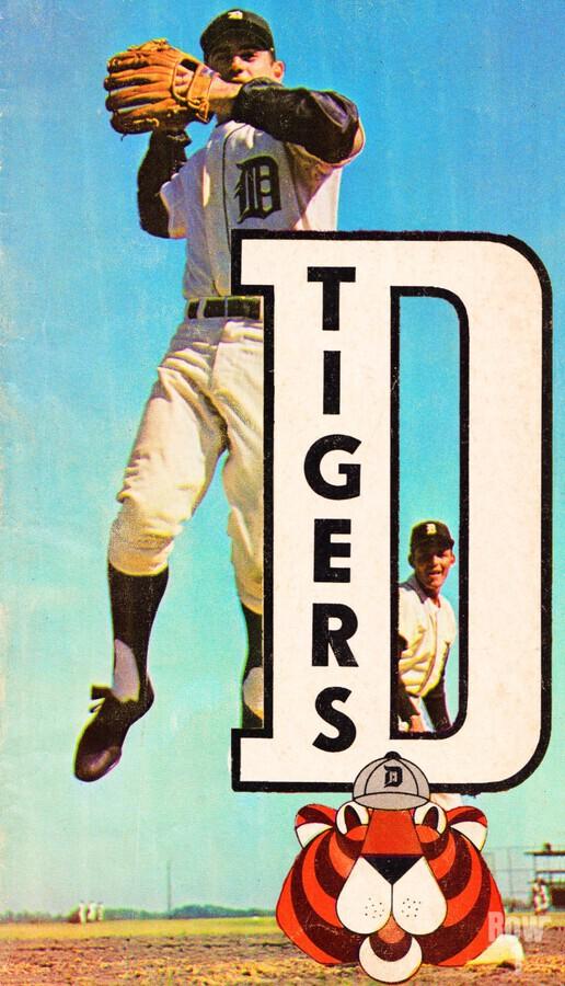retro remix detroit tigers poster  Print