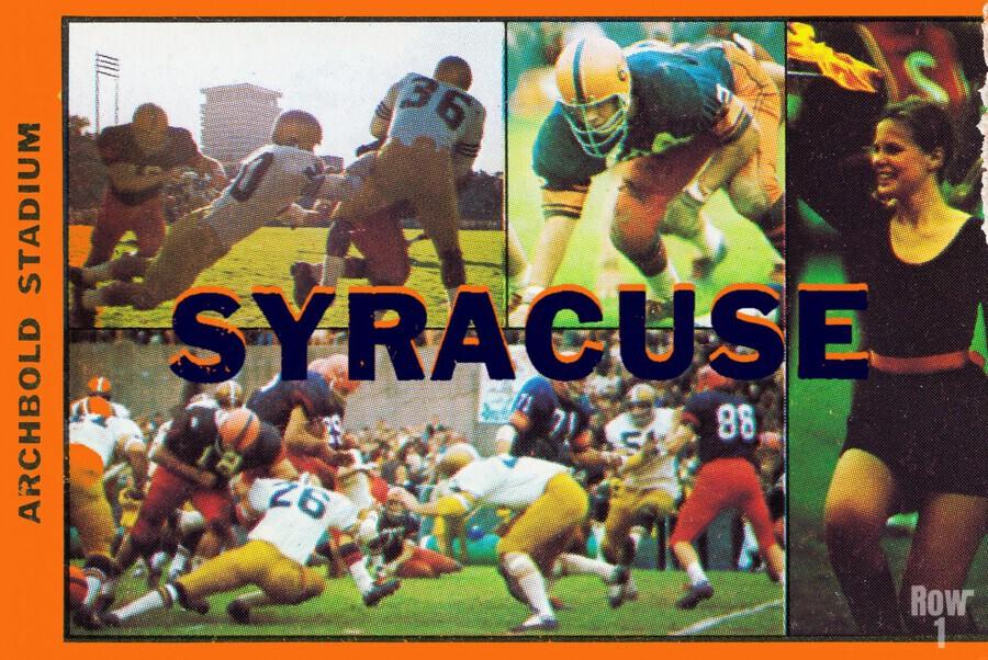 Vintage Syracuse Ticket Art  Print