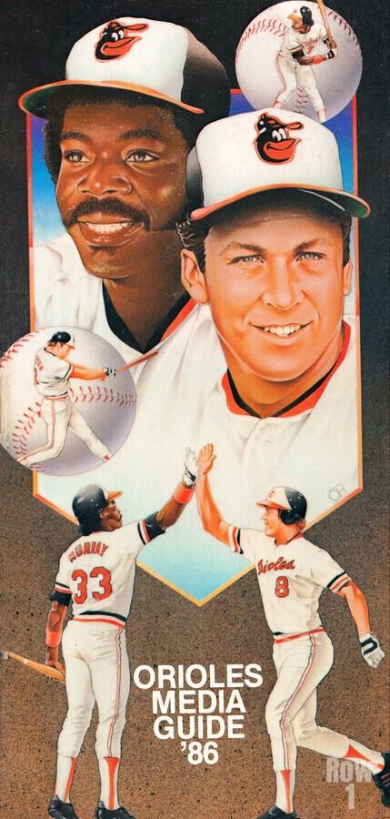 1986 Baltimore Orioles Media Guide Canvas  Print
