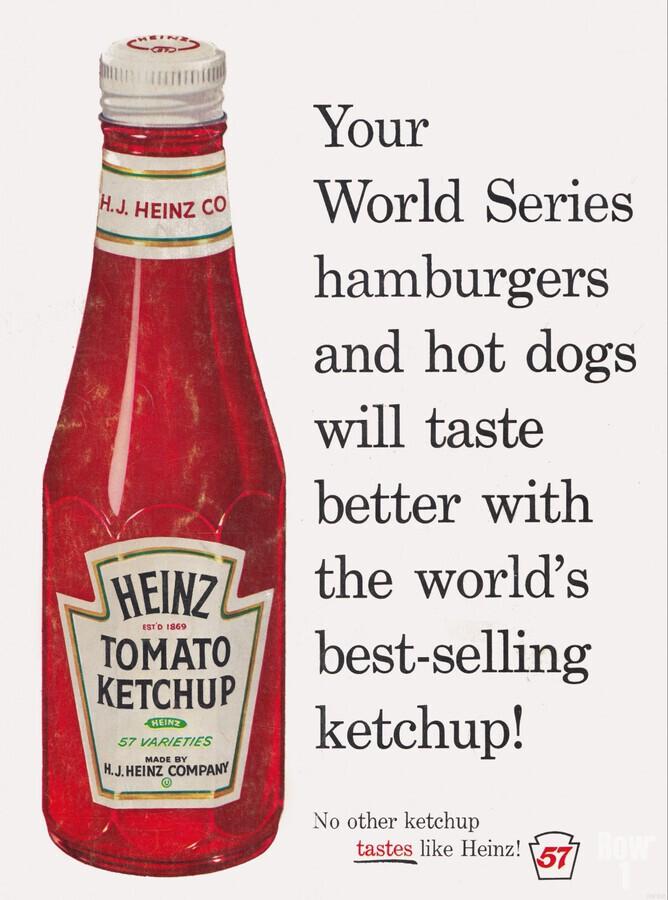 vintage advertisement heinz ketchup   Print