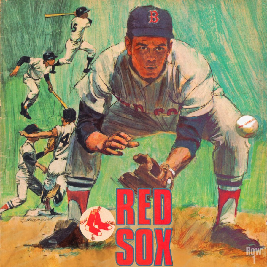 vintage boston red sox best metal sports signs for the garage  Print
