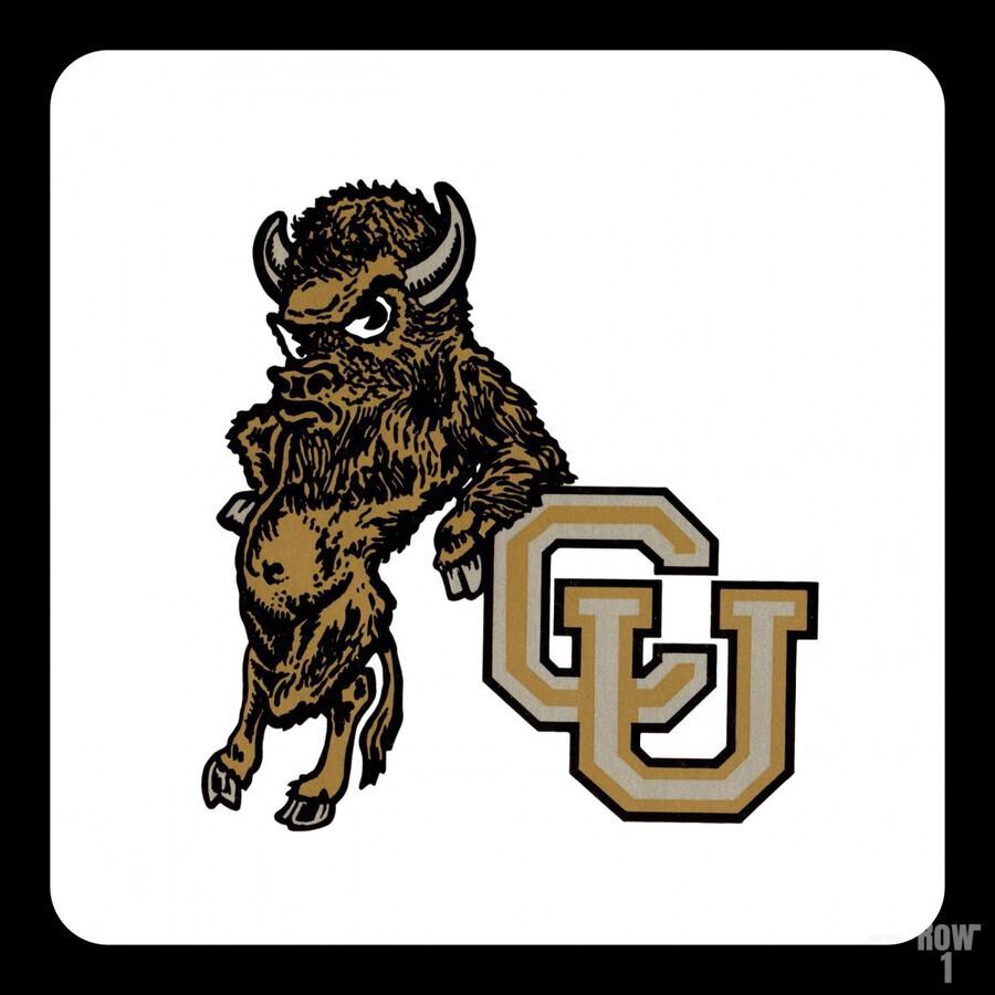 vintage college mascots colorado buffalo art  Print