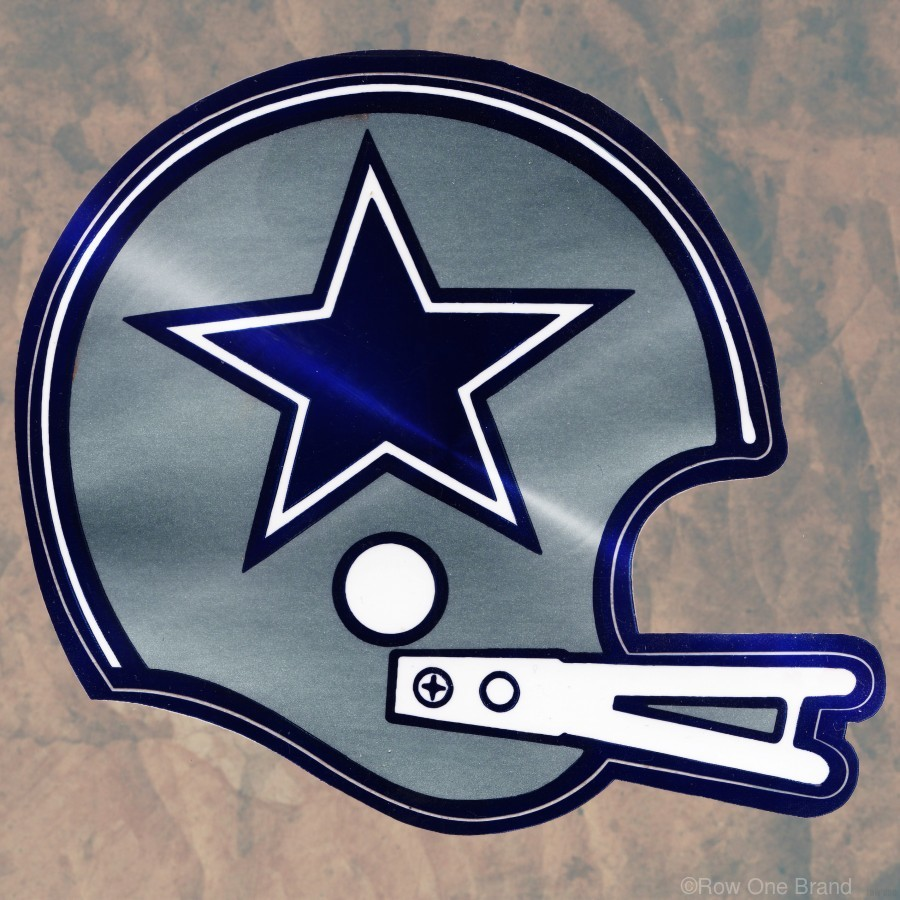 vintage dallas cowboys nfl helmet art  Print