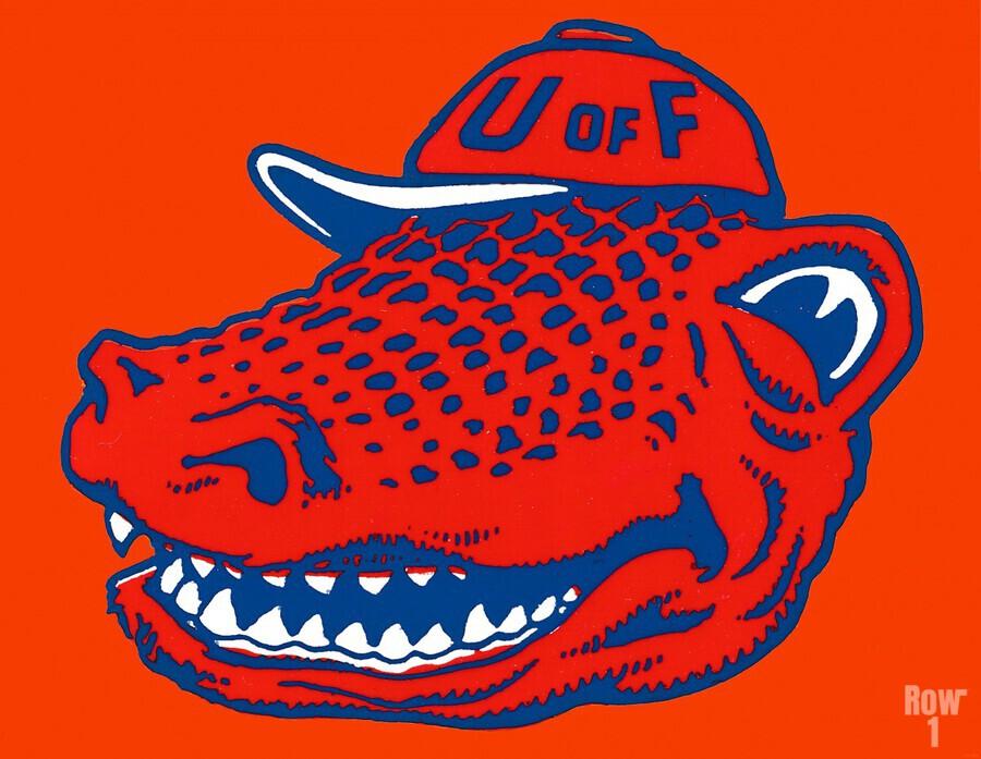 Vintage Florida Gators Wall Art  Print