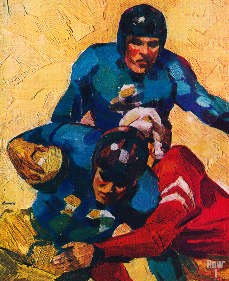 Vintage Football Players in 1946  Print