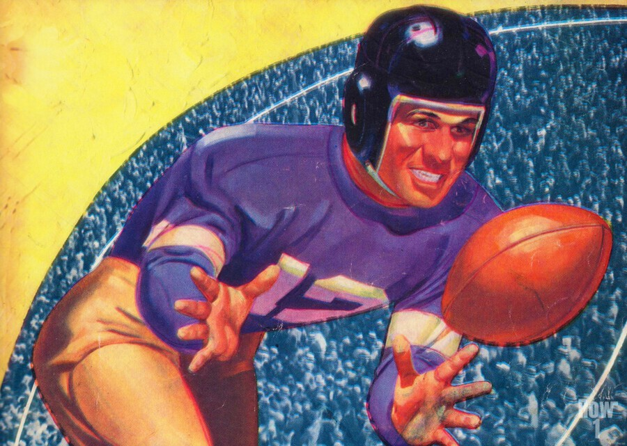 vintage football posters retro sports art print  Print