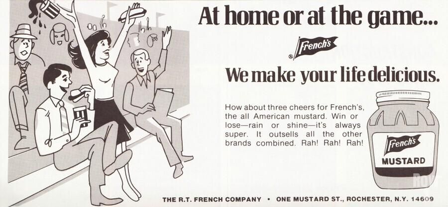 vintage frenchs mustard ad retro food advertisements poster print metal sign wood art  Print