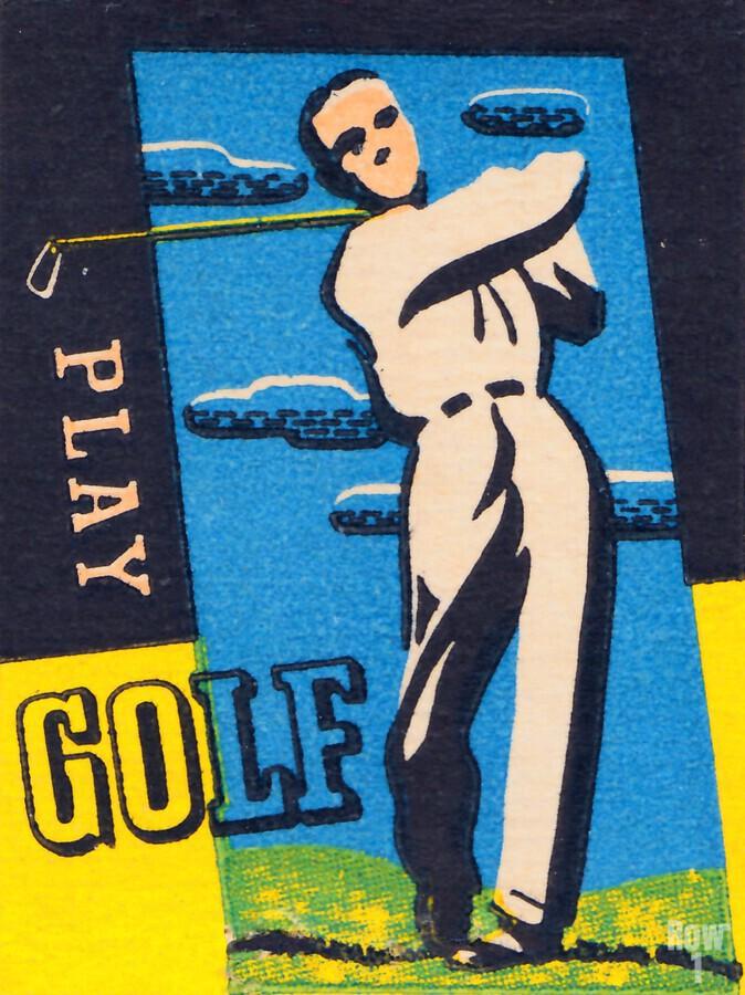 vintage golfer art play golf  Print