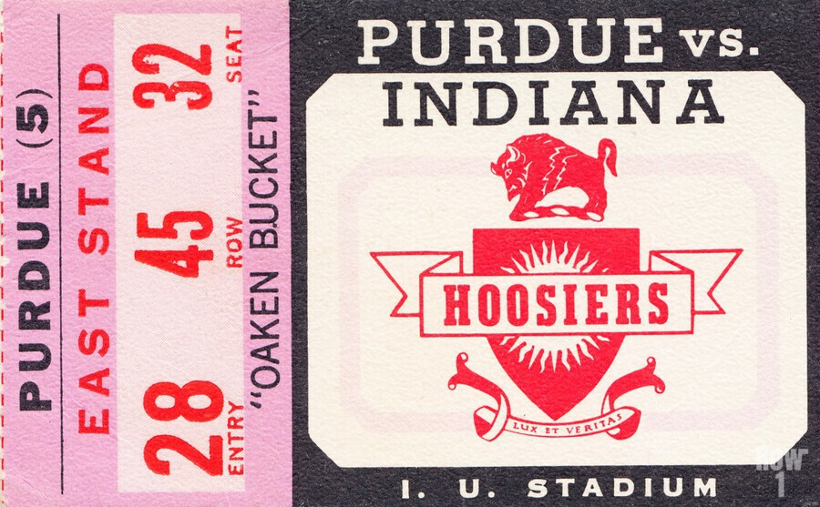 Vintage Indiana Hoosiers Football Ticket Stub  Print