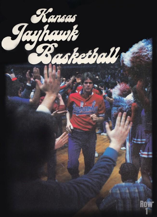 vintage kansas jayhawks basketball poster ku 1982  Print
