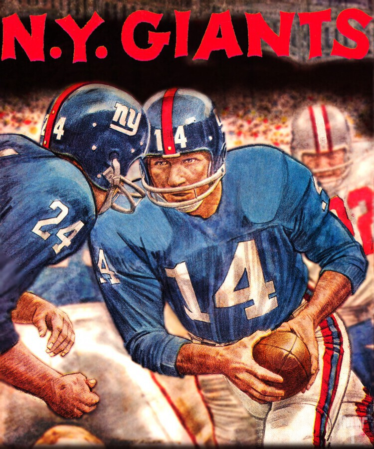 vintage new york giants nfl art poster  Print