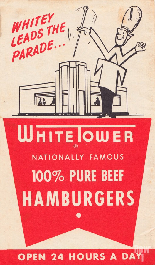 white tower hamburger ad  Print