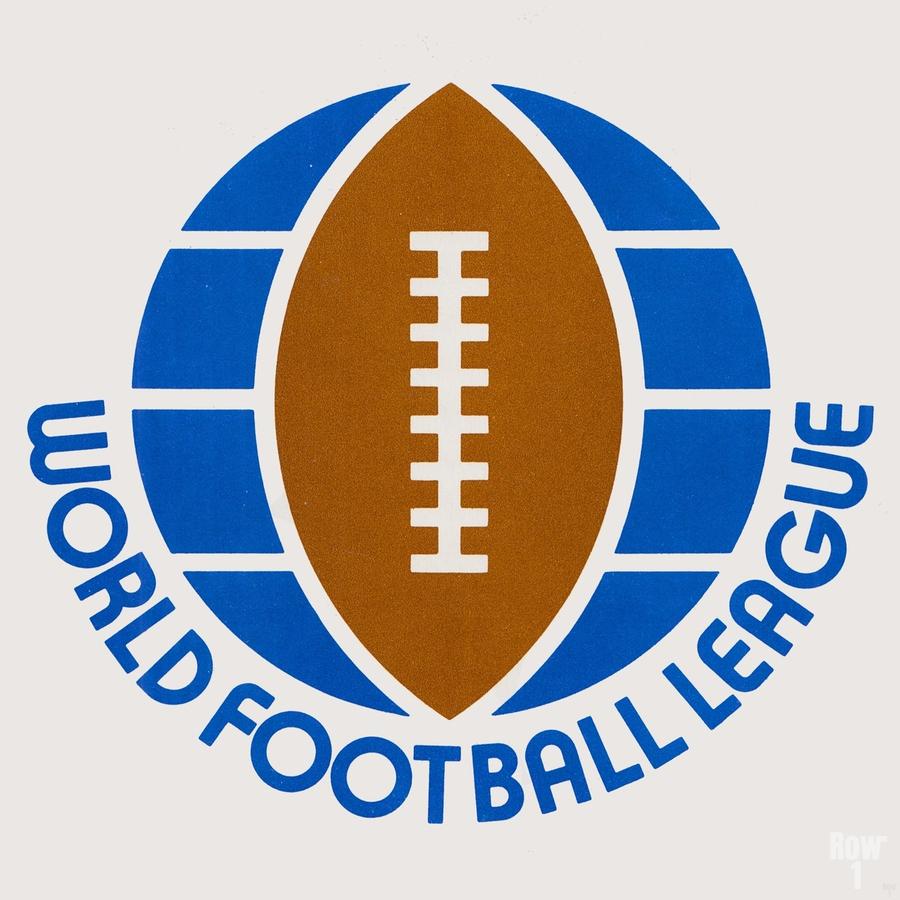 1974 World Football League Logo Art  Print