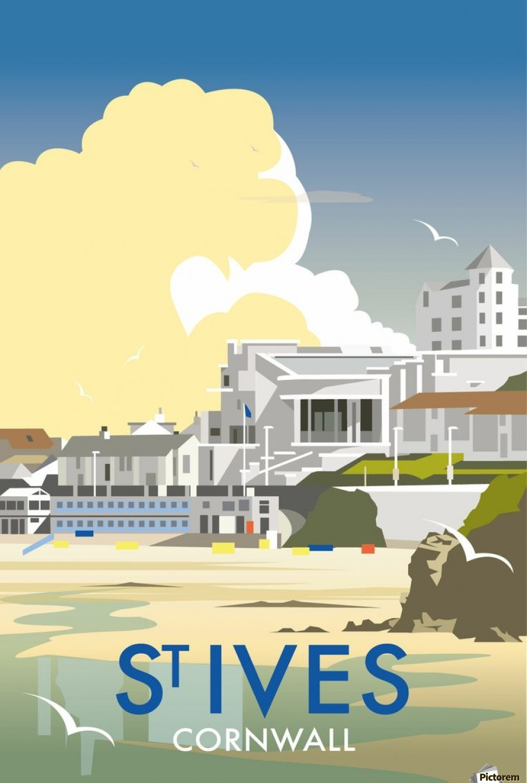 Saint Ives Cornwall Vintage Travel Poster Vintage Poster