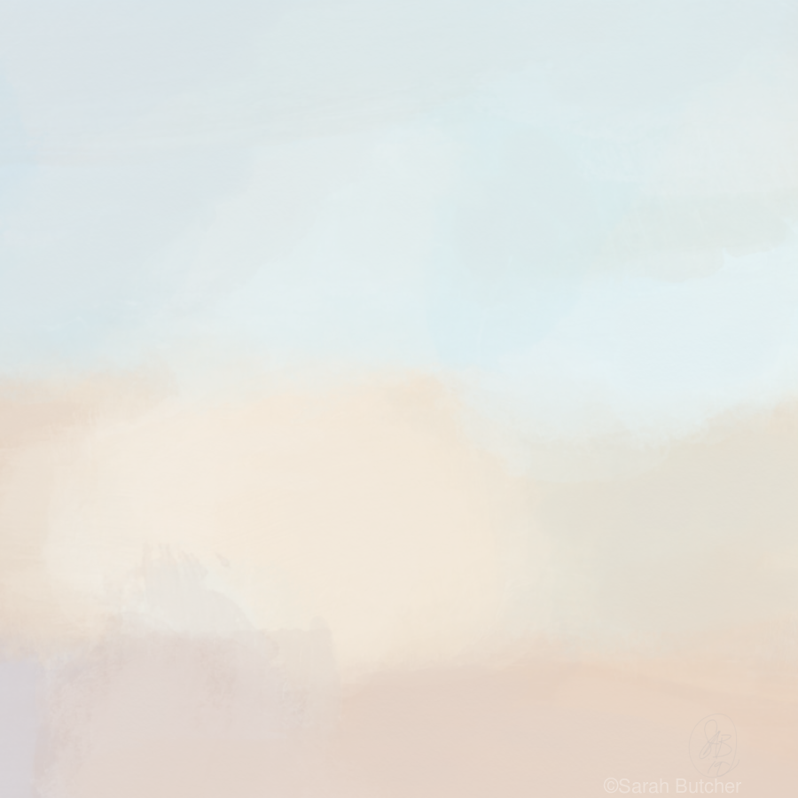 Turquoise and Copper Landscape  Print