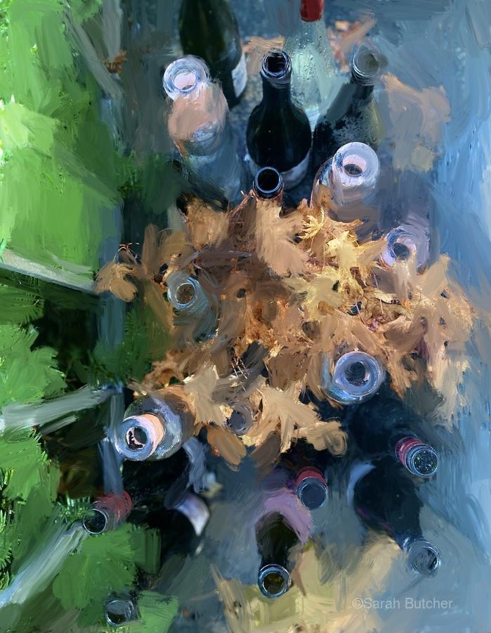 Wine Bottles  Print