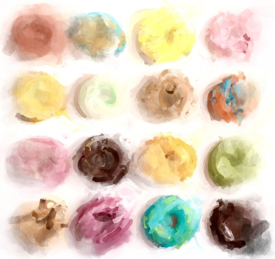 Donut Painting No2  Print