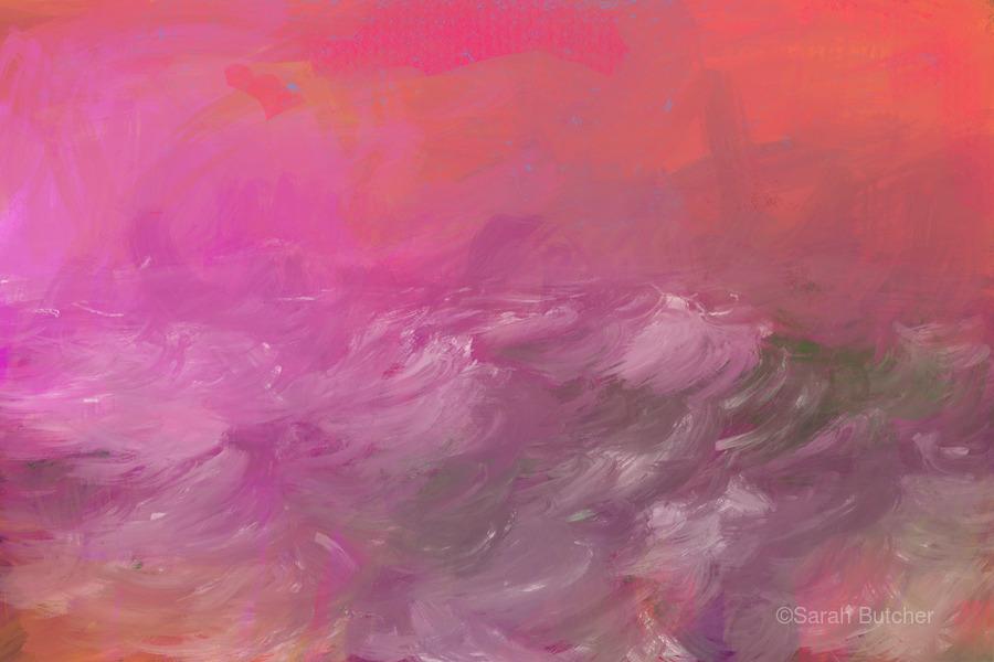 Pink Surf  Print