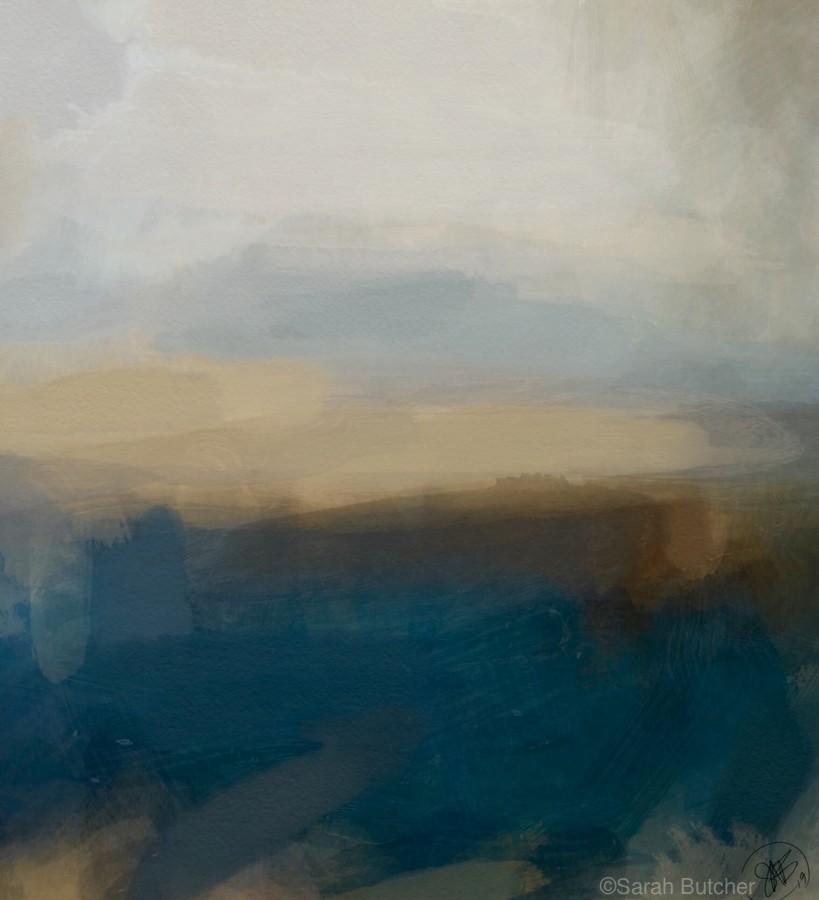 Lapis Blue Landscape  Print