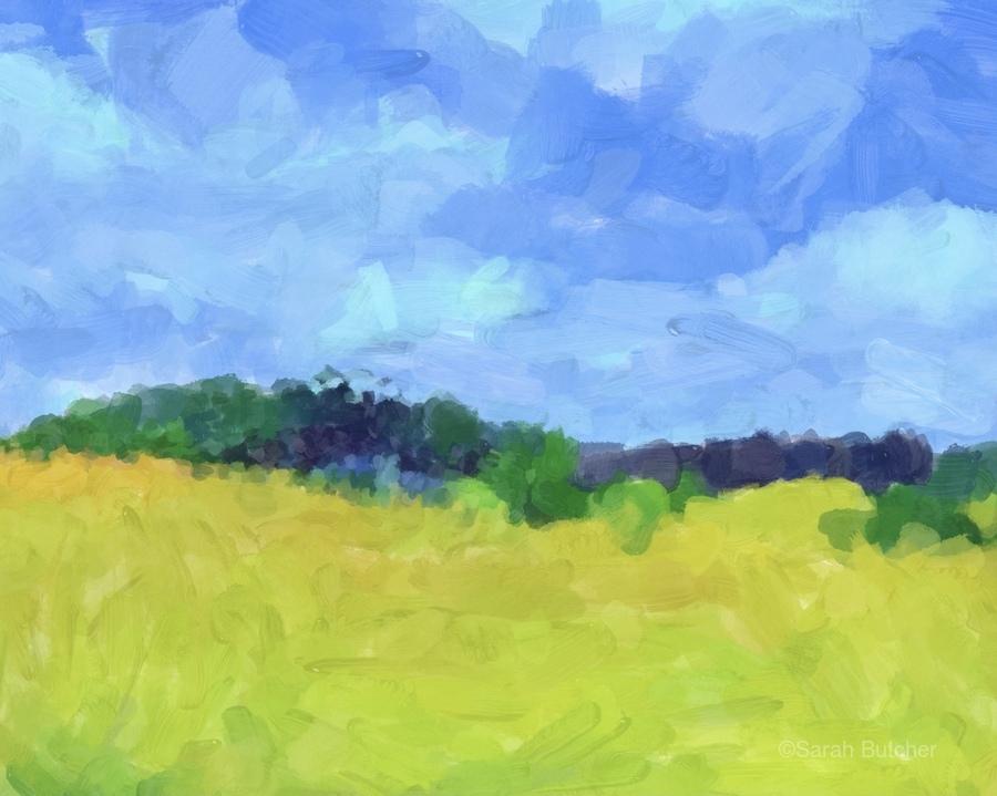 Parkton Landscape in Spring Green  Print