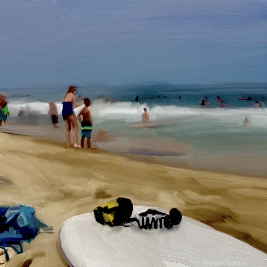 Beach at 52nd Street  Print