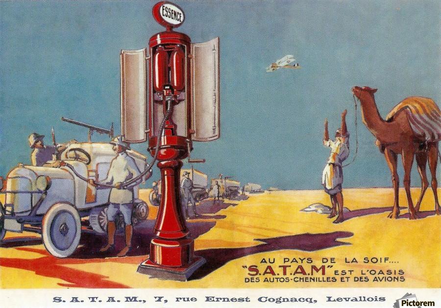 satam vintage service station equipment vintage poster canvas