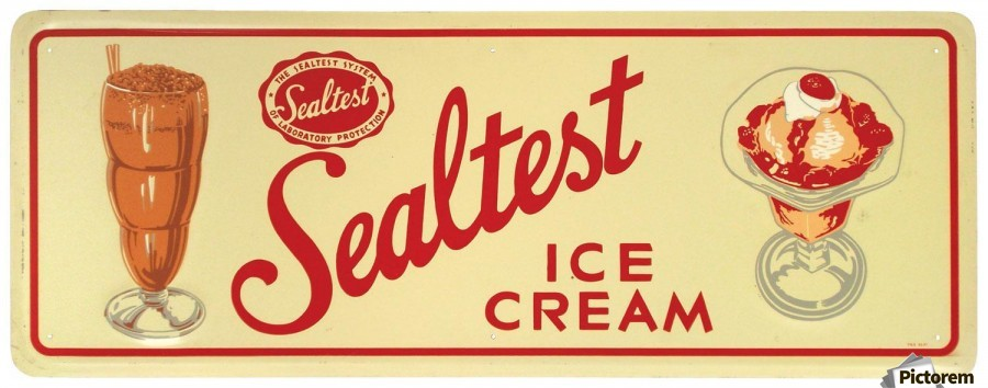 Completely new Sealtest Ice Cream - VINTAGE POSTER Canvas FD71