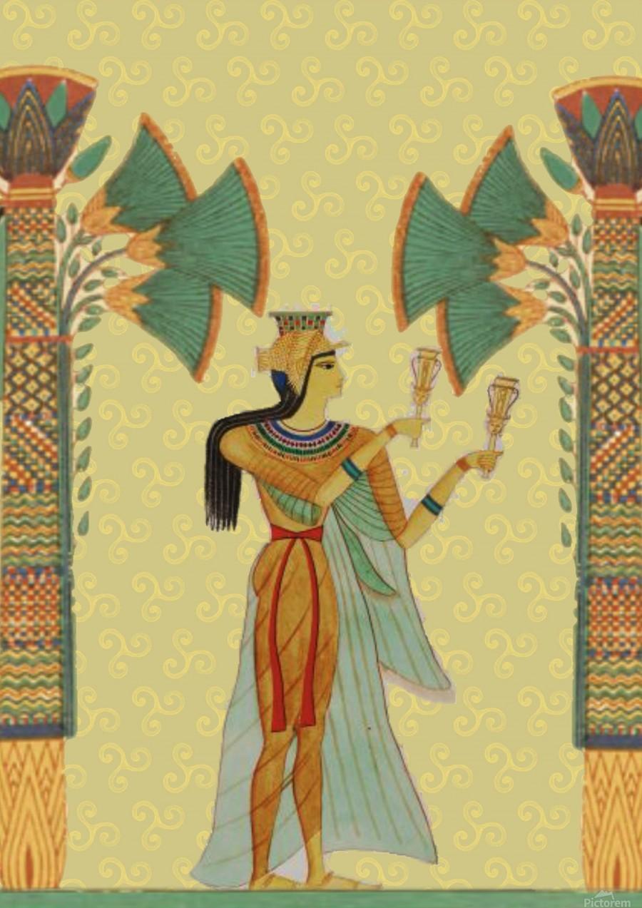 egyptian design man artifact royal  Print