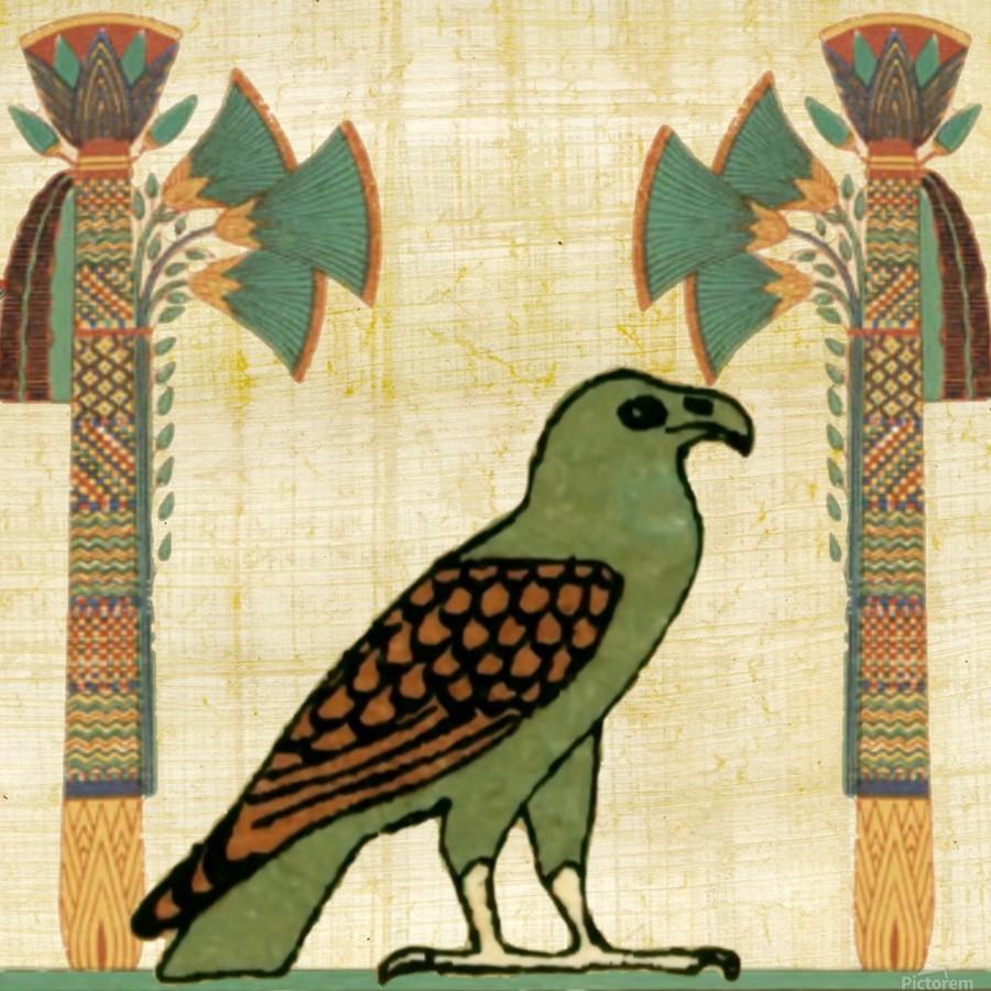 egyptian paper papyrus bird  Print