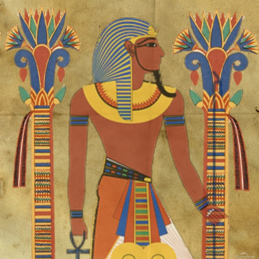 egyptian tutunkhamun pharaoh design  Print
