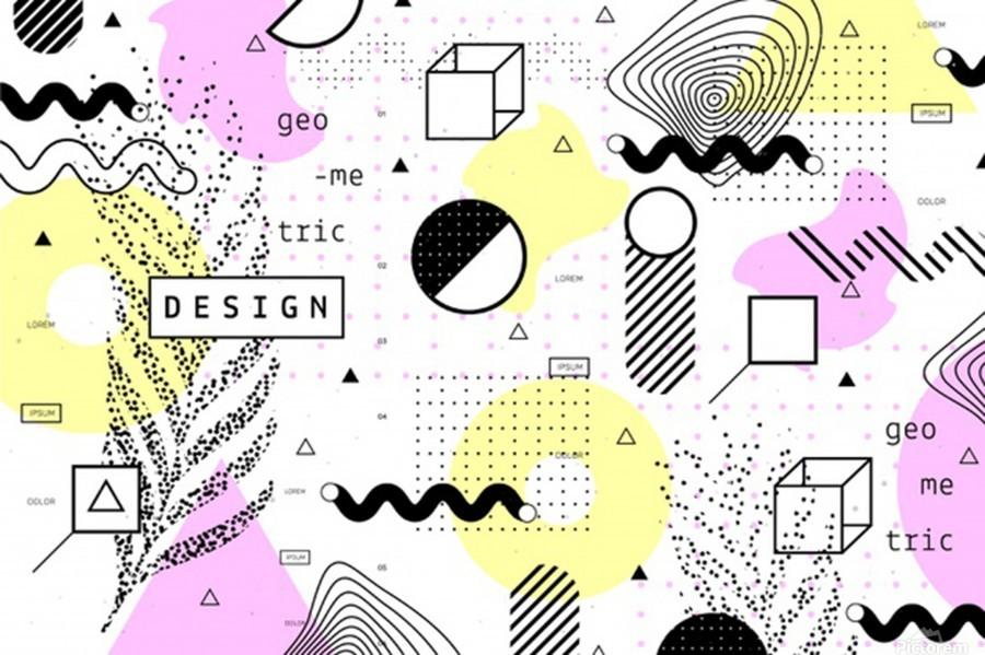 graphic design geometric background  Print