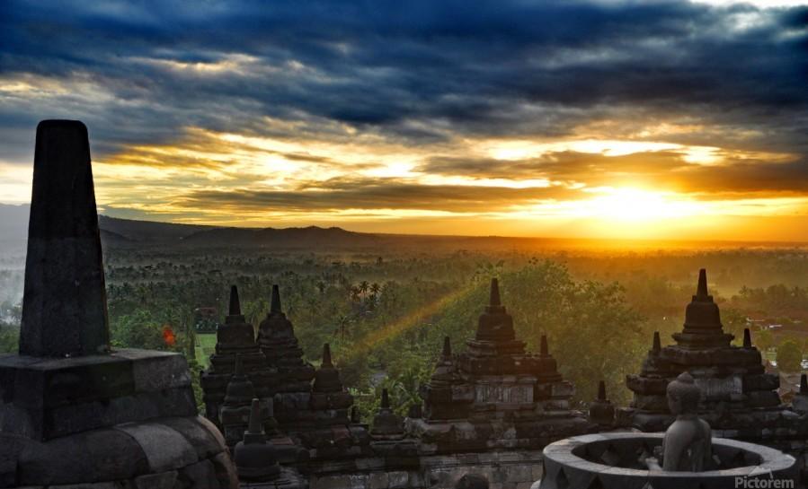 indonesia java landscape borobudur  Print