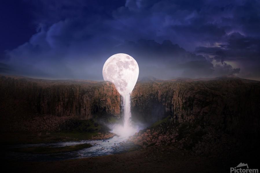 moon landscape night fantasy  Print