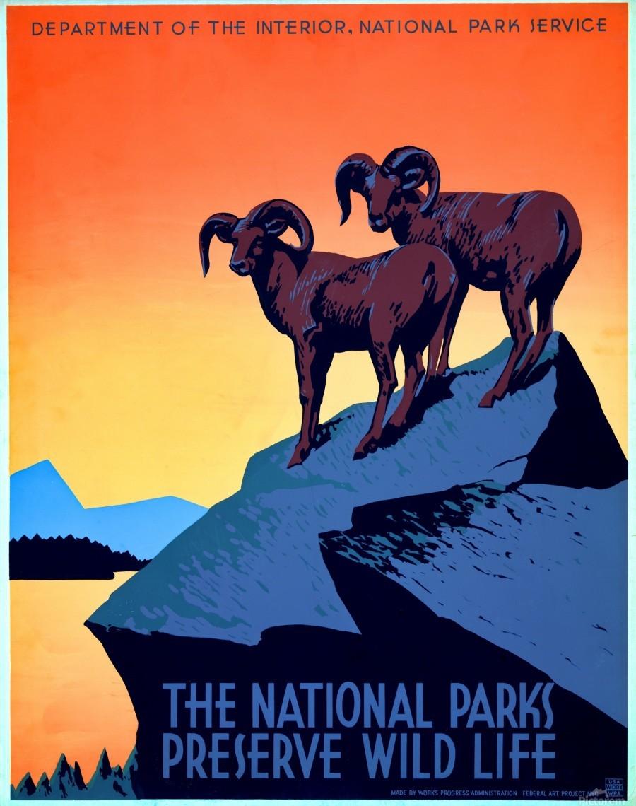 vintage poster retro advertisement  Print