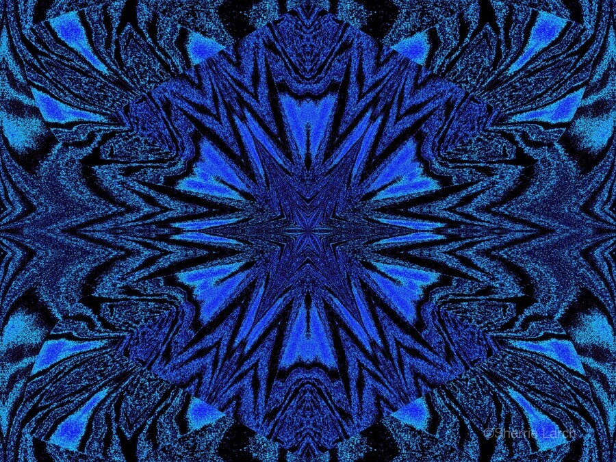 Electric Blue 2  Print