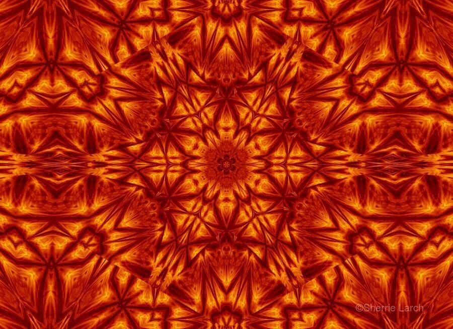 Fire Flowers 207  Print