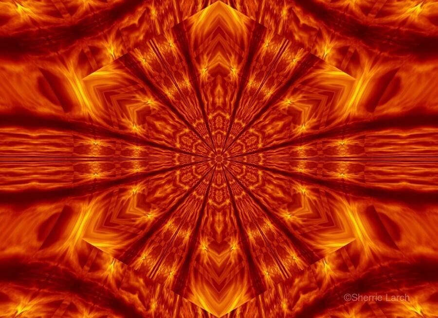 Fire Flowers 56  Print