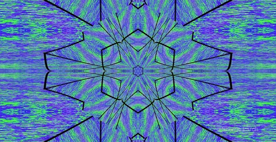 Light Of The Blue Moon Lotus  Print