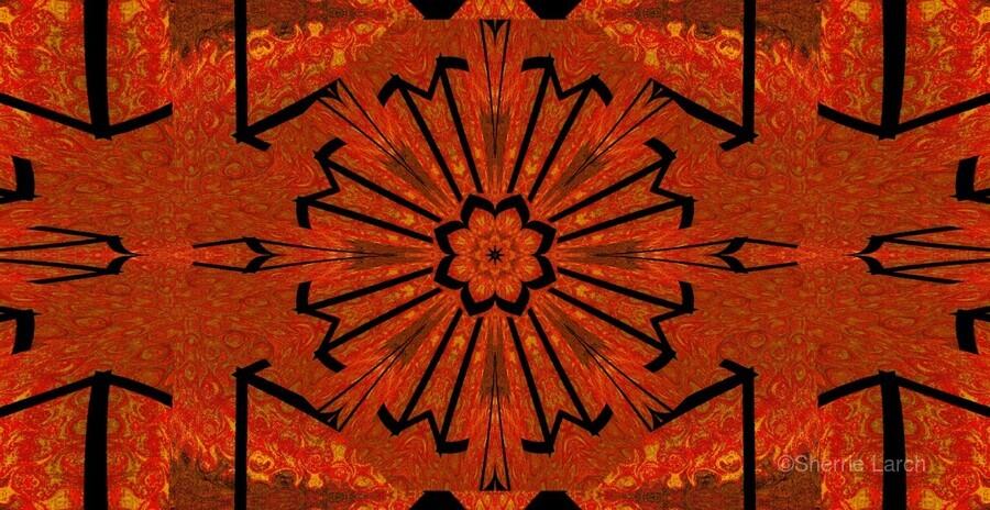 Lotus In Flames 1  Print