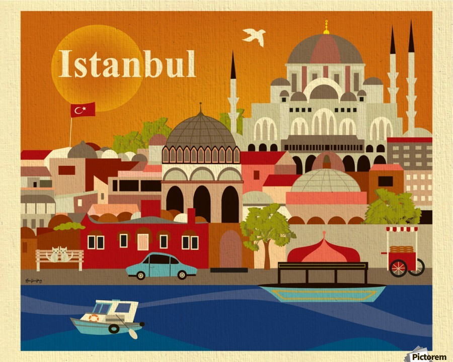 Image result for Istanbul antique poster