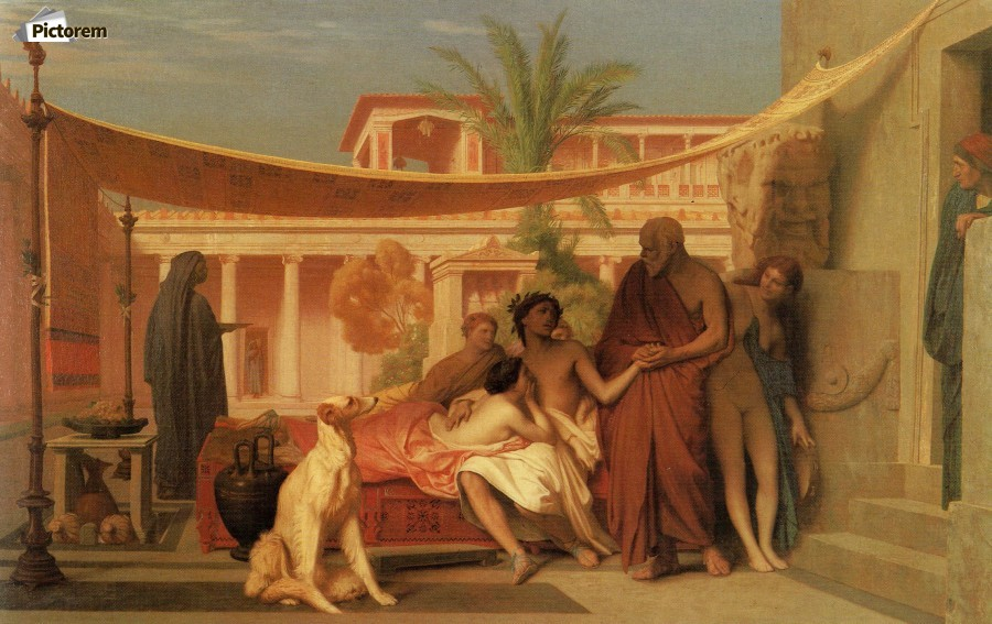 Socrates seeking Alcibiades in the House of Aspasia  Print