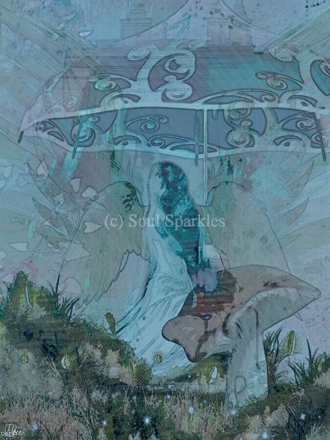 Whispers of the Misty Garden  Print