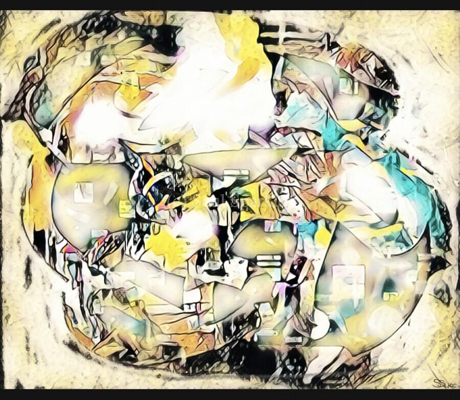 Mosaic Labyrinth  Print