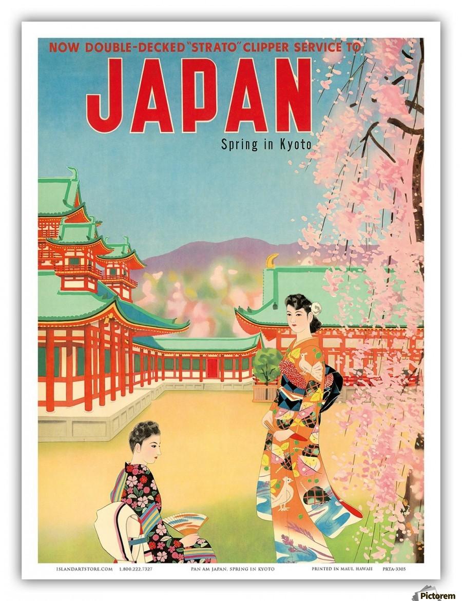 Spring In Kyoto Japan Travel Poster Vintage Poster