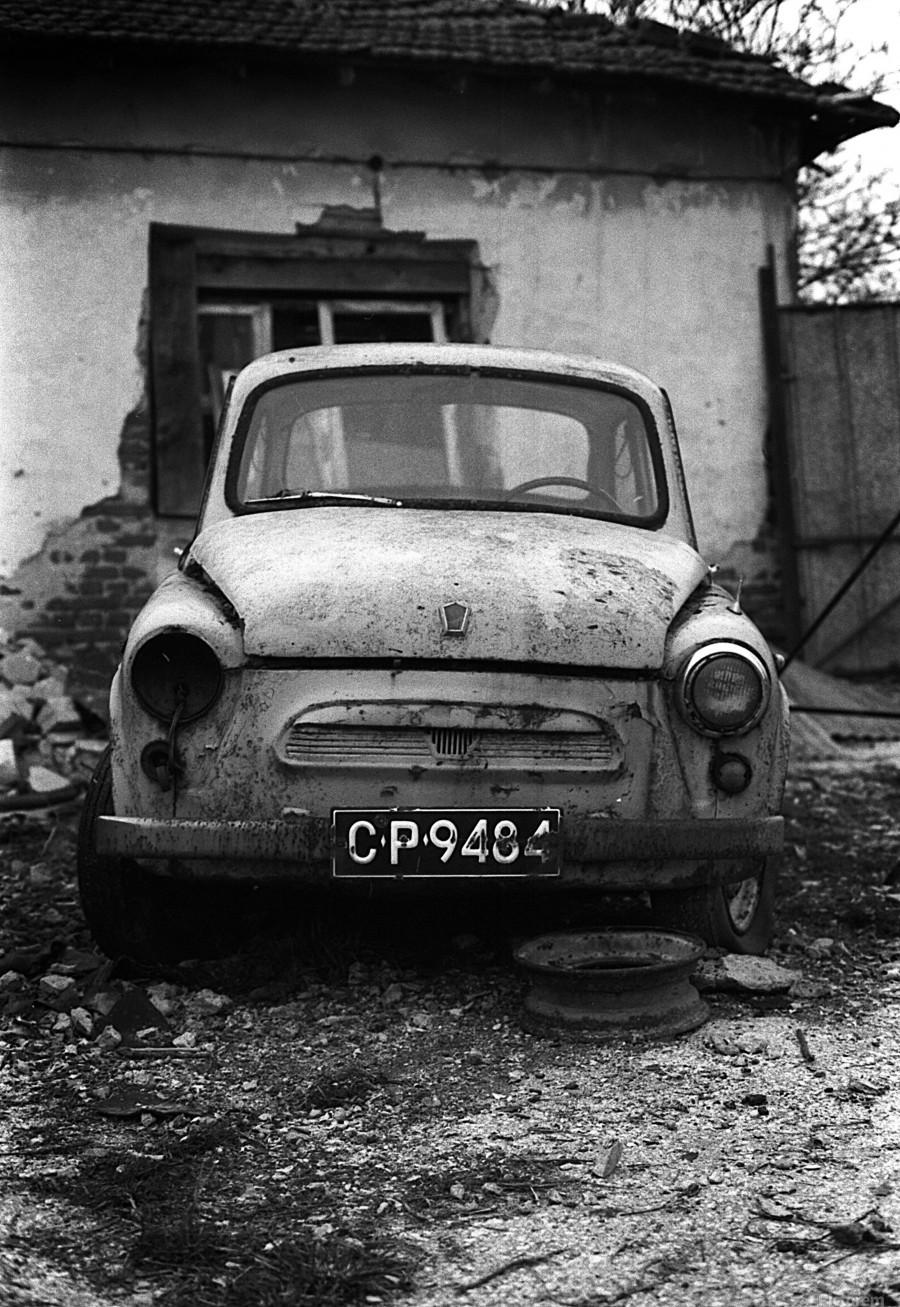 Abandoned ZAZ 965  USSRs replica of FIAT 600  Print